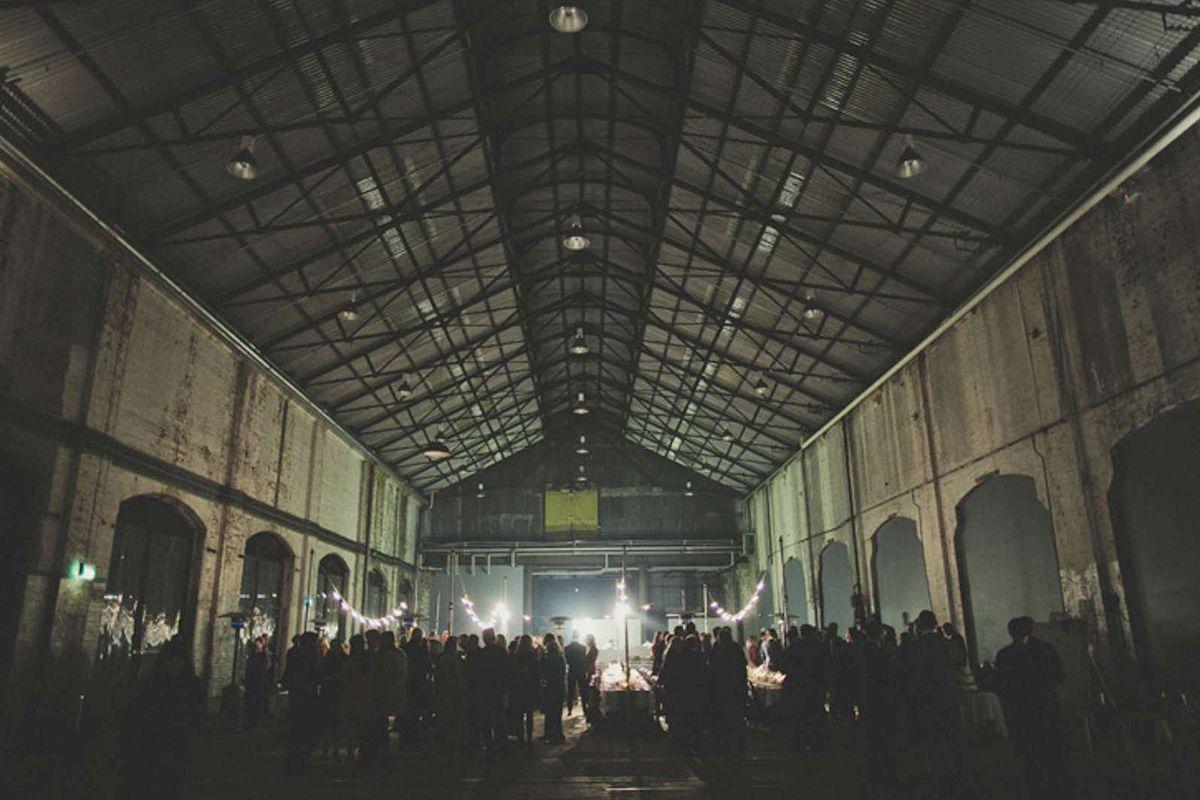 carriageworks sydney industrial warehouse wedding venue