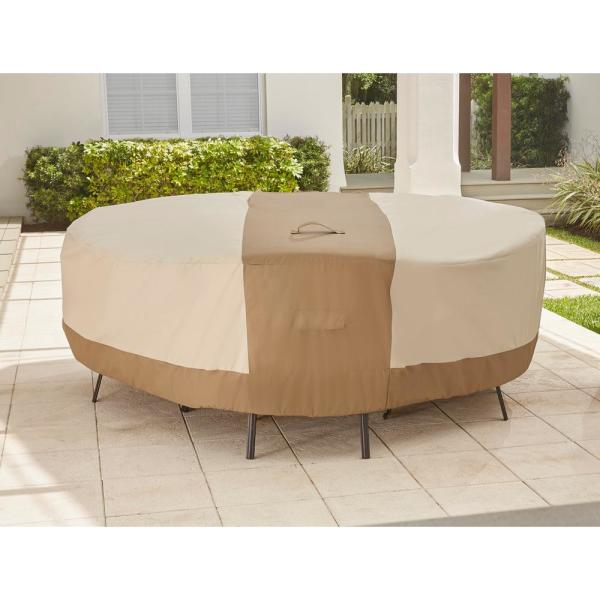 Hampton Bay Round Table Outdoor Patio, Hampton Bay Outdoor Furniture Covers