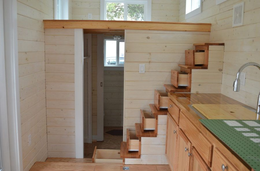 I love the stairs in the home run by brevard tiny house tiny house living