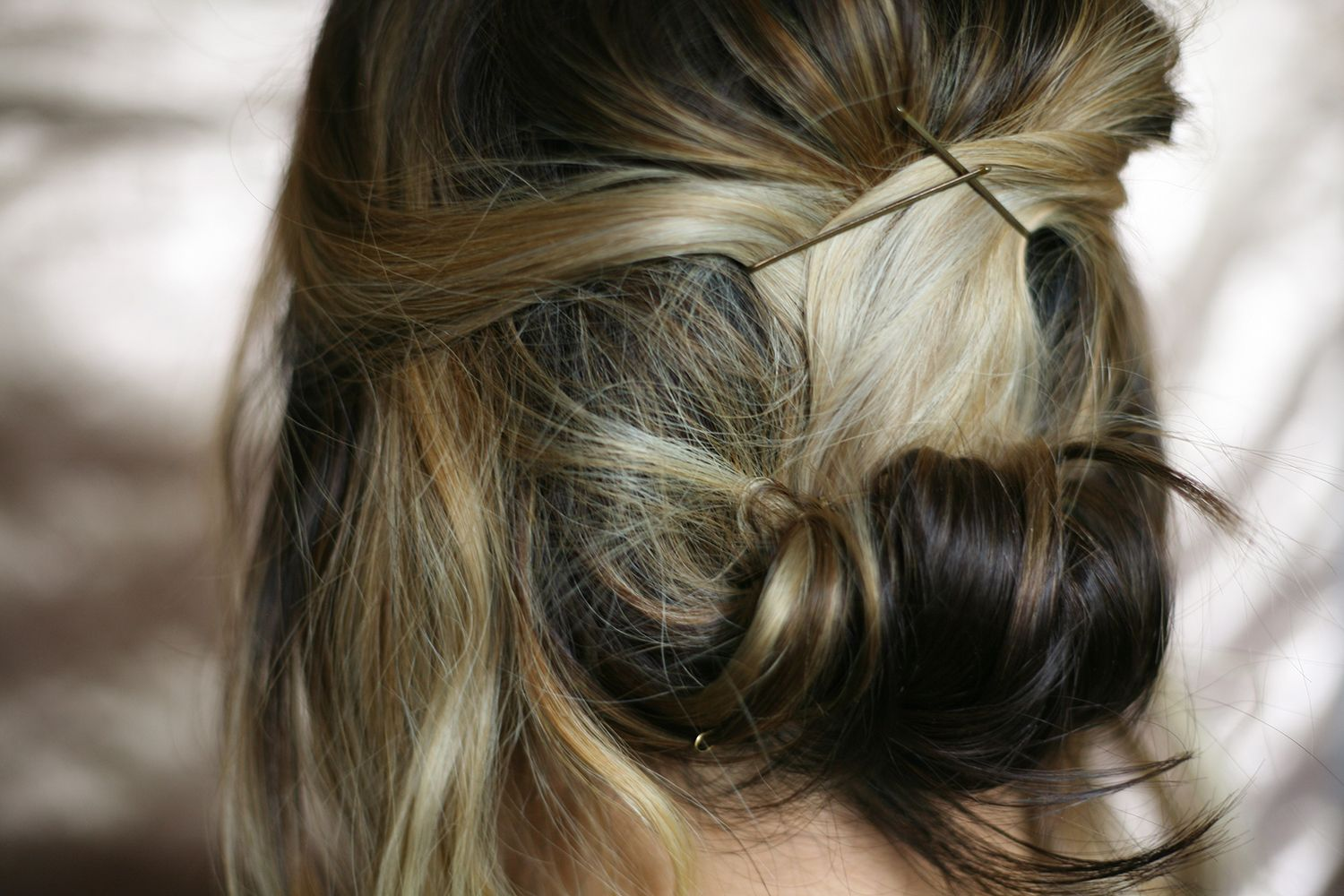 Easy romantic updo hairstyle for short and medium length hair