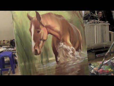 تعلم كيفية رسم لوحة فنية راااائعة لحصان جميييييل Youtube Caballos