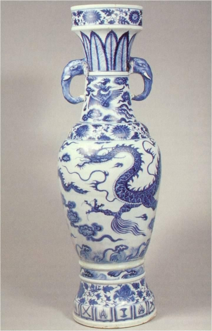 Ceramics Temple Vase 1351 Porcelain Yuan Dynasty This Vase Is An Early Example Of The