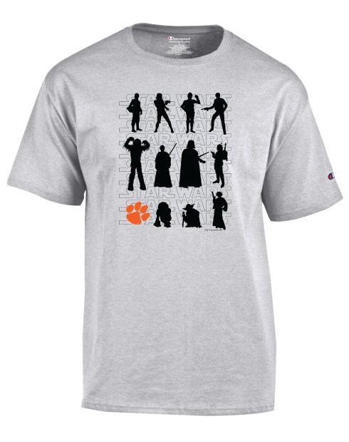 Image for Champion Men's Core Authentic Jersey Star Wars Characters Clemson Tee                                                            from HanesInk