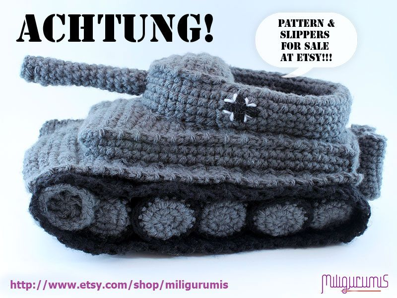 Free Patterns To Crochet Tank Slippers Well My Wife Finally