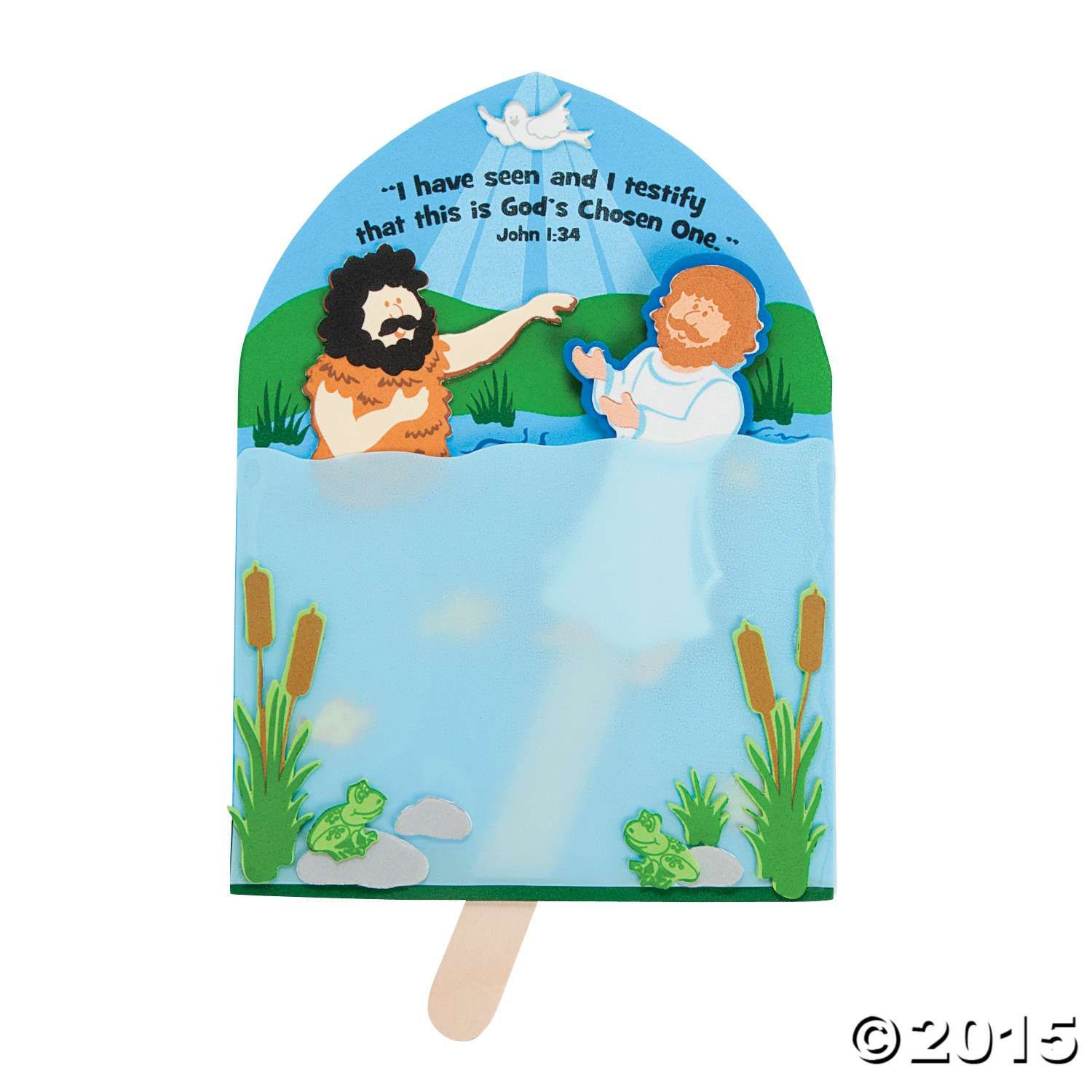 This Baptism Of Jesus Craft Kit Is A Great Way To Teach