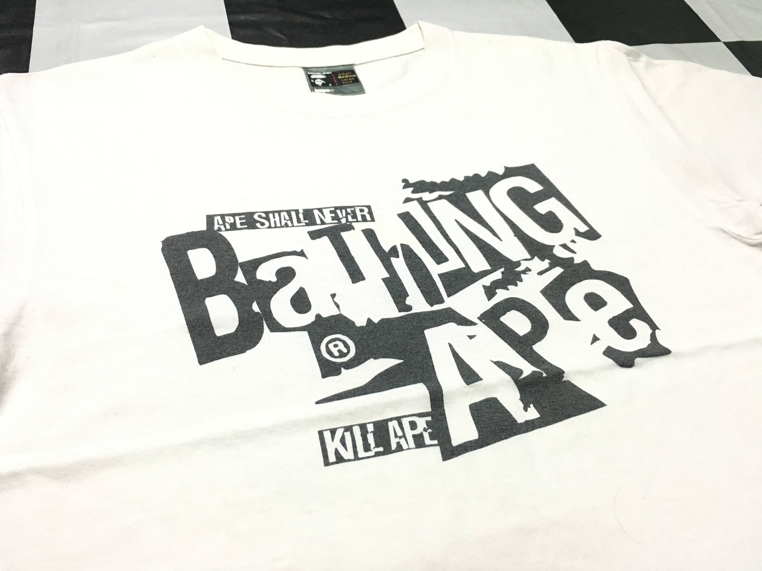 Vintage Bape T Shirt A Bathing Ape Size M Made Tee White In Japan By Alivevintageshop On Etsy