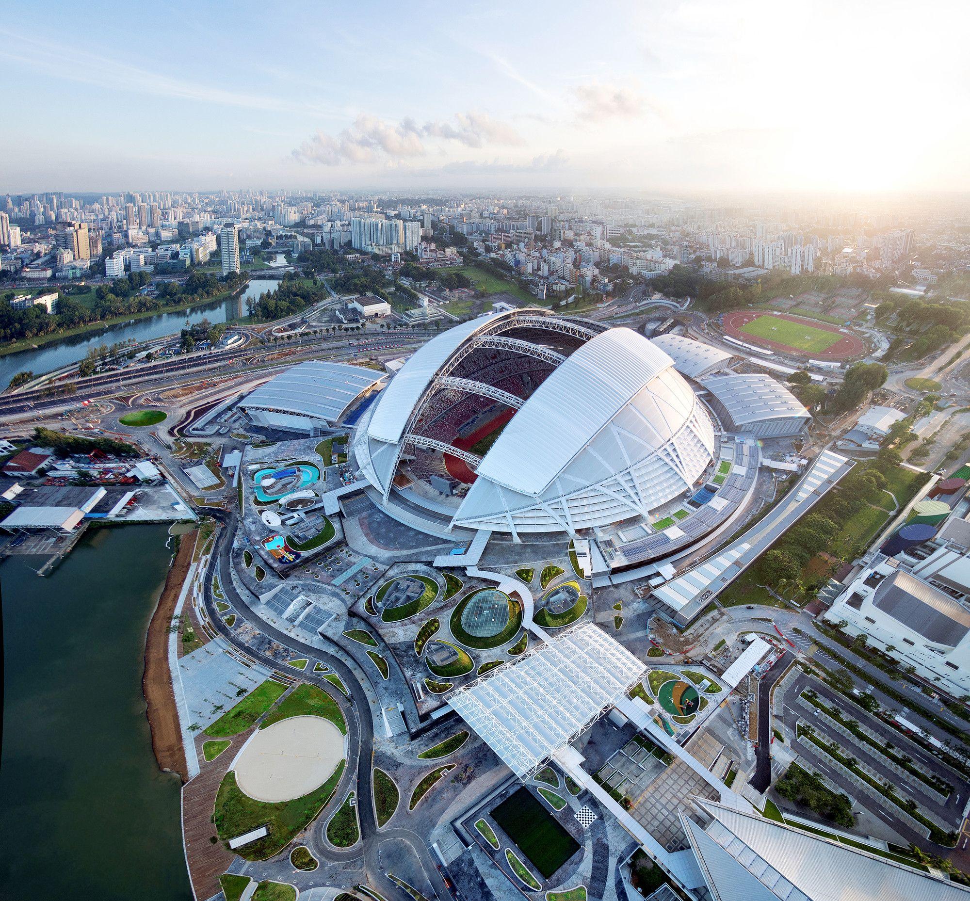 Centro Deportivo Singapur Dparchitects Dp Architects Stadium Architecture Stadium Design
