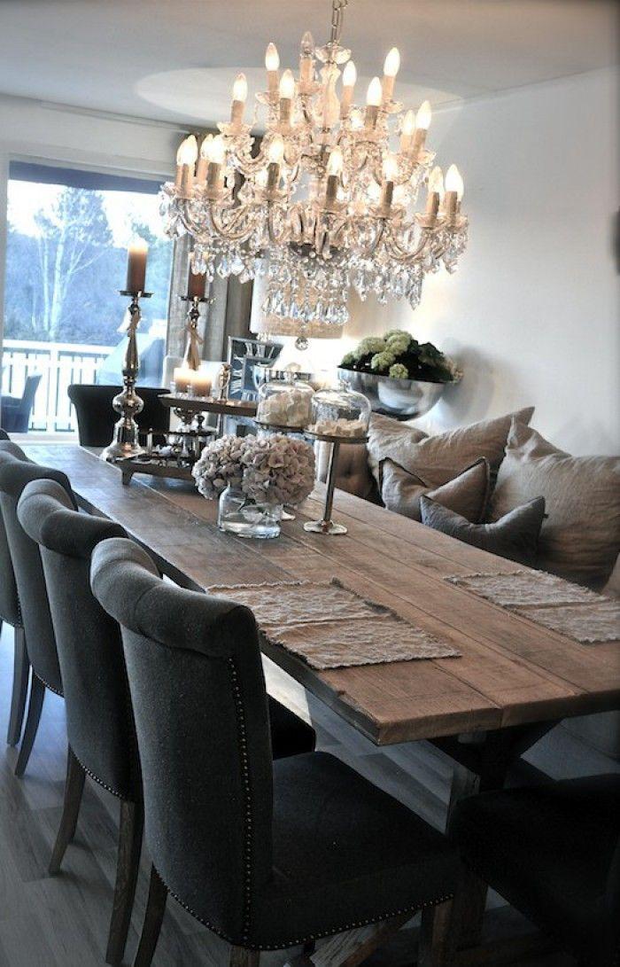 eetkamer landelijke stijl, lamp niet maar rest wel mooi! | Home ...