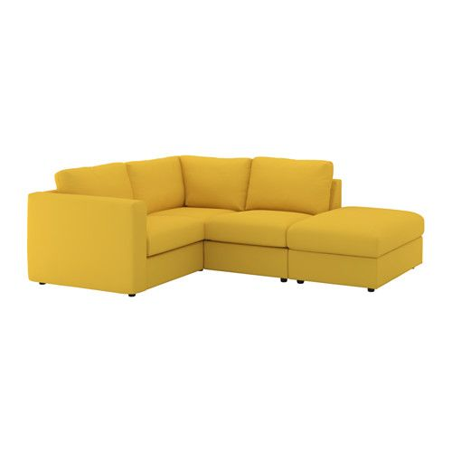vimle corner sofa 3 seat with open end grà sbo golden yellow