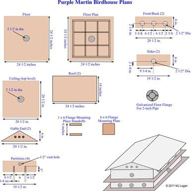 1000 images about Purple Martin Bird House Plans on Pinterest
