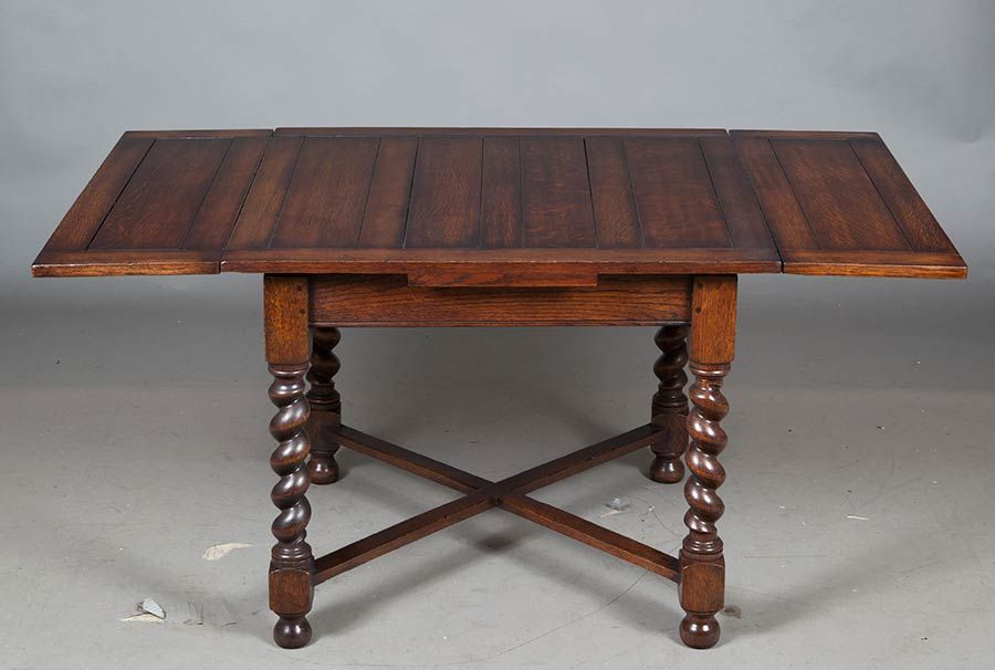 Delicieux English Antique Oak Draw Leaf Pub Table » English Classics