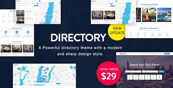 Directory v1.3 Multi-purpose WordPress Theme Blogger Template | Web ...