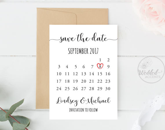 Save The Date Calendar Save The Date Calendar Template Wedding Save The Date Card Wedding Invitations Save The Date Templates Wedding Saving Save The Date