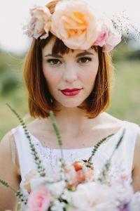 Coronas De Flores Para El Pelo Corto Hair Make Up Pinterest - Flores-en-el-pelo-para-bodas