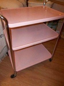Prime Vtg 1950S Cosco Pink 3 Tier Metal Chrome Kitchen Utility Home Interior And Landscaping Oversignezvosmurscom