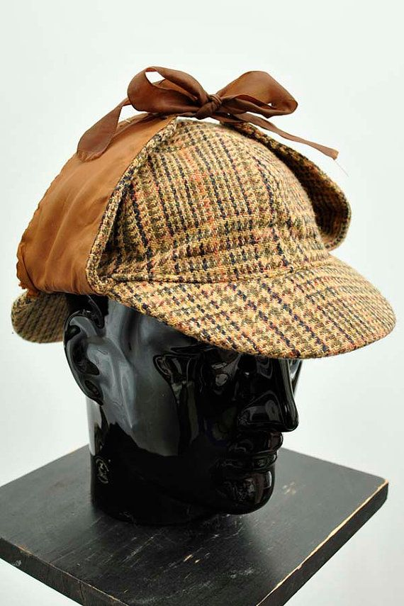 8073577a7a8 I actually like this... a lot vintage Dunn   Co tweed deerstalker   SherlockHolmes hat