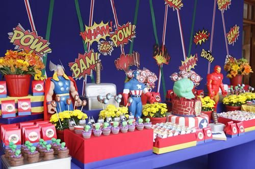 fiesta infantil de superhroesu los vengadores