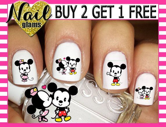 Fall In Love With These Valentines Day Disney Nail Decals Nail