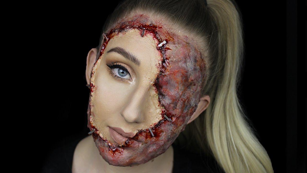 Stapled on face gory halloween makeup tutorial halloween stapled on face gory halloween makeup tutorial baditri Gallery