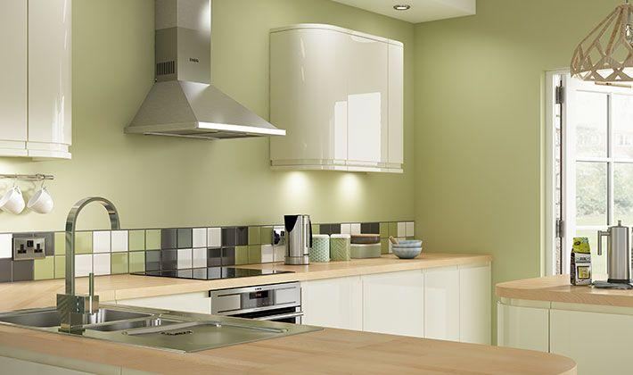 Sofia Cream Gloss Kitchen | Wickes.co.uk | Dream kitchen ...
