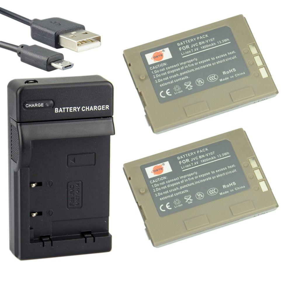 >> Click to Buy << DSTE 2PCS BN-V107U Li-ion Battery + UDC38 USB Port Charger for JVC GR-DX100EK GR-DVP3 GR-DX106 GR-DX48GR-DVP3ST Camera #Affiliate