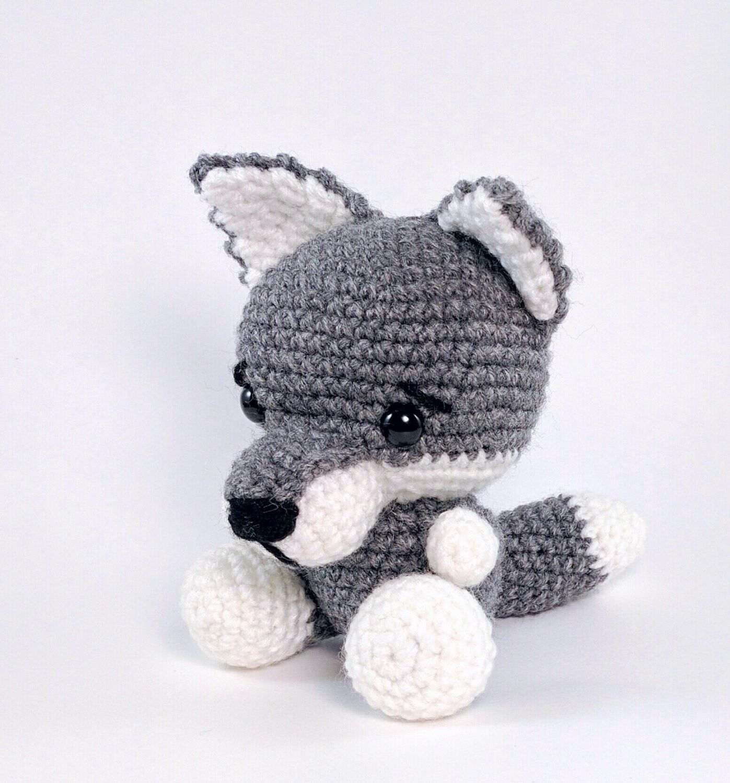 PATTERN: Wilson the Wolf Pup - Crochet wolf pattern - amigurumi wolf ...