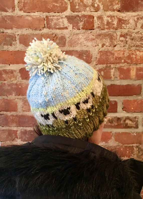 SHEEP HAT Baa-ble hat fair isle beanie fairisle bobble hat | Baa ...