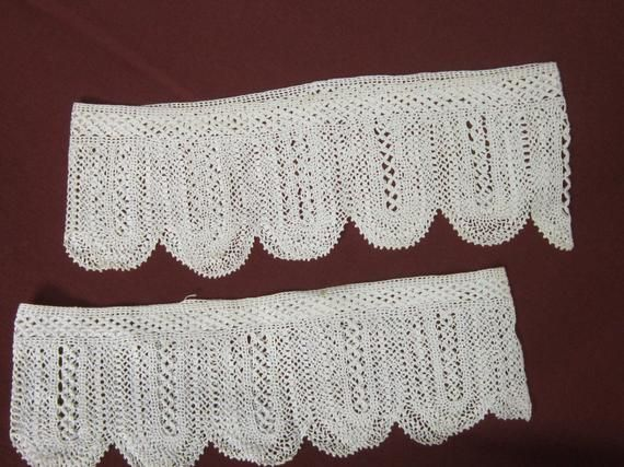 Vintage Hand CROCHET Pillow Edging
