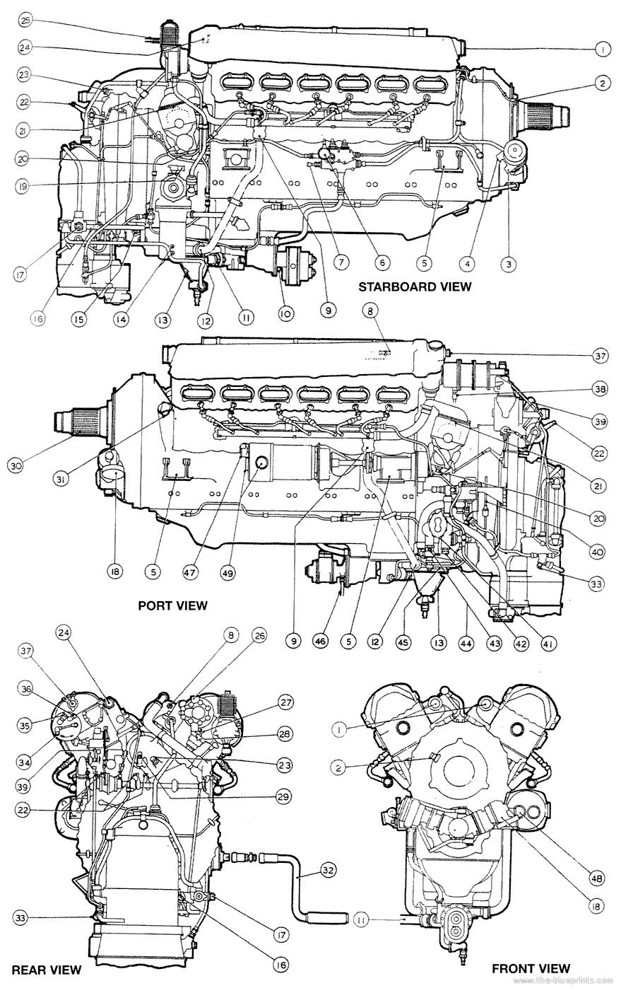 image result for www offenhauser engine drawings spitfire rh pinterest com Allison V-1710 www Rolls-Royce Merlin Engines