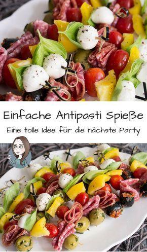 Antipasti Spieße Rezept - MakeItSweet.de