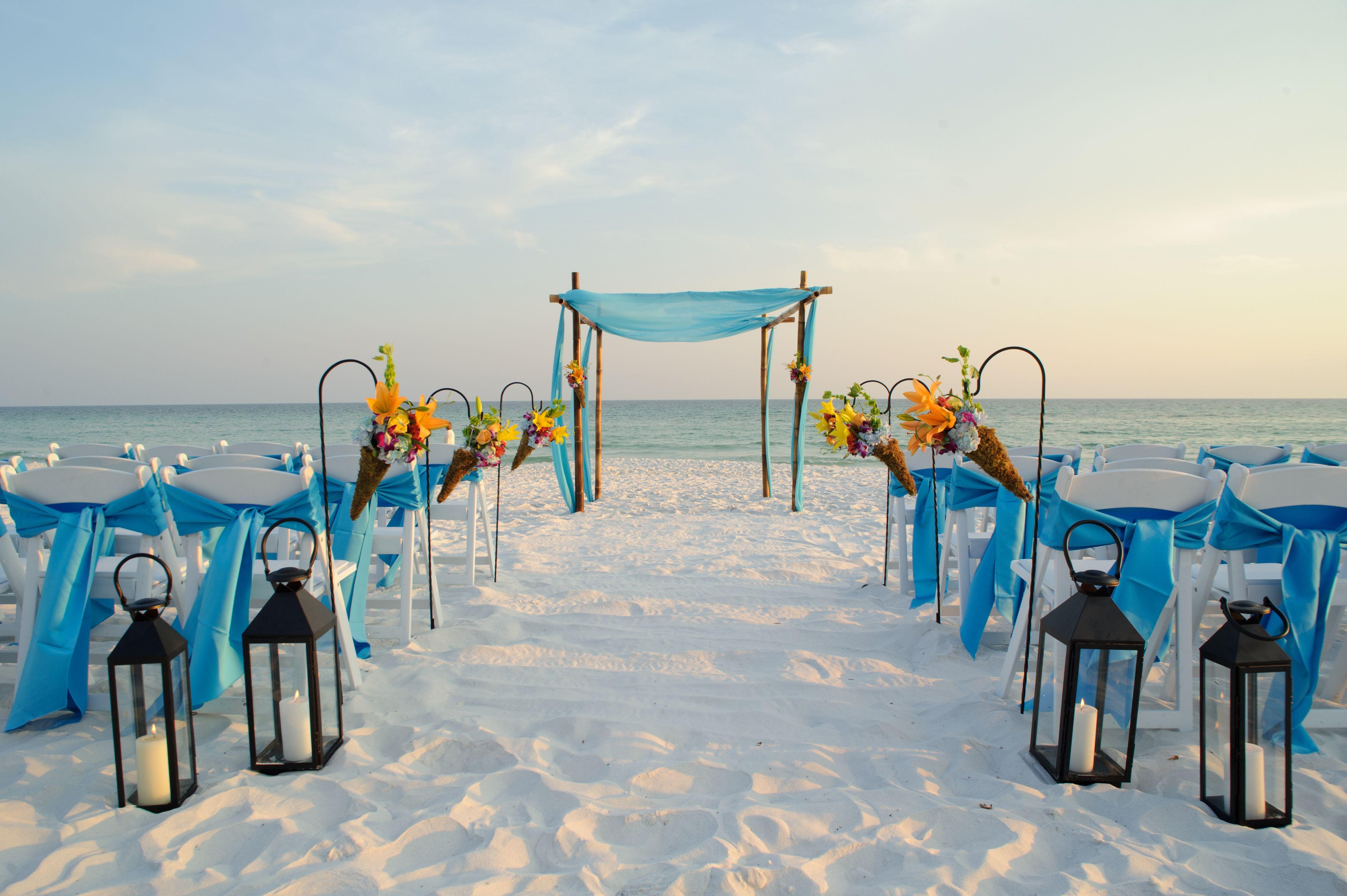 small beach wedding ceremony ideas%0A Beach Wedding Ceremony at TOPS u    L Resort