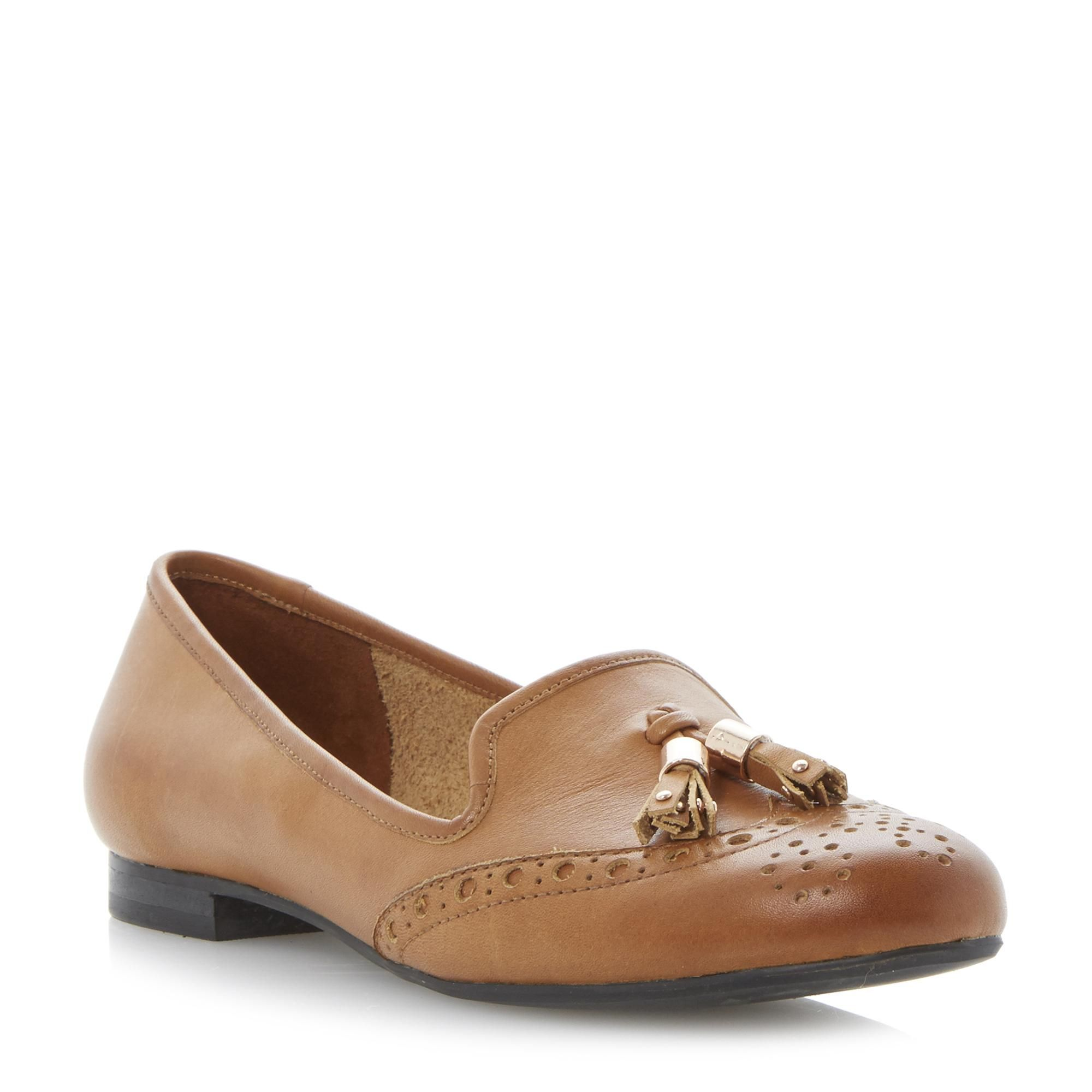 70dd1ed2f43 DUNE LADIES LOKI - Brogue Tassel Detail Loafer Shoe - tan