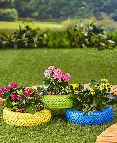 Resultado de imagem para modelos de jardim jardines Pinterest - jardines con llantas