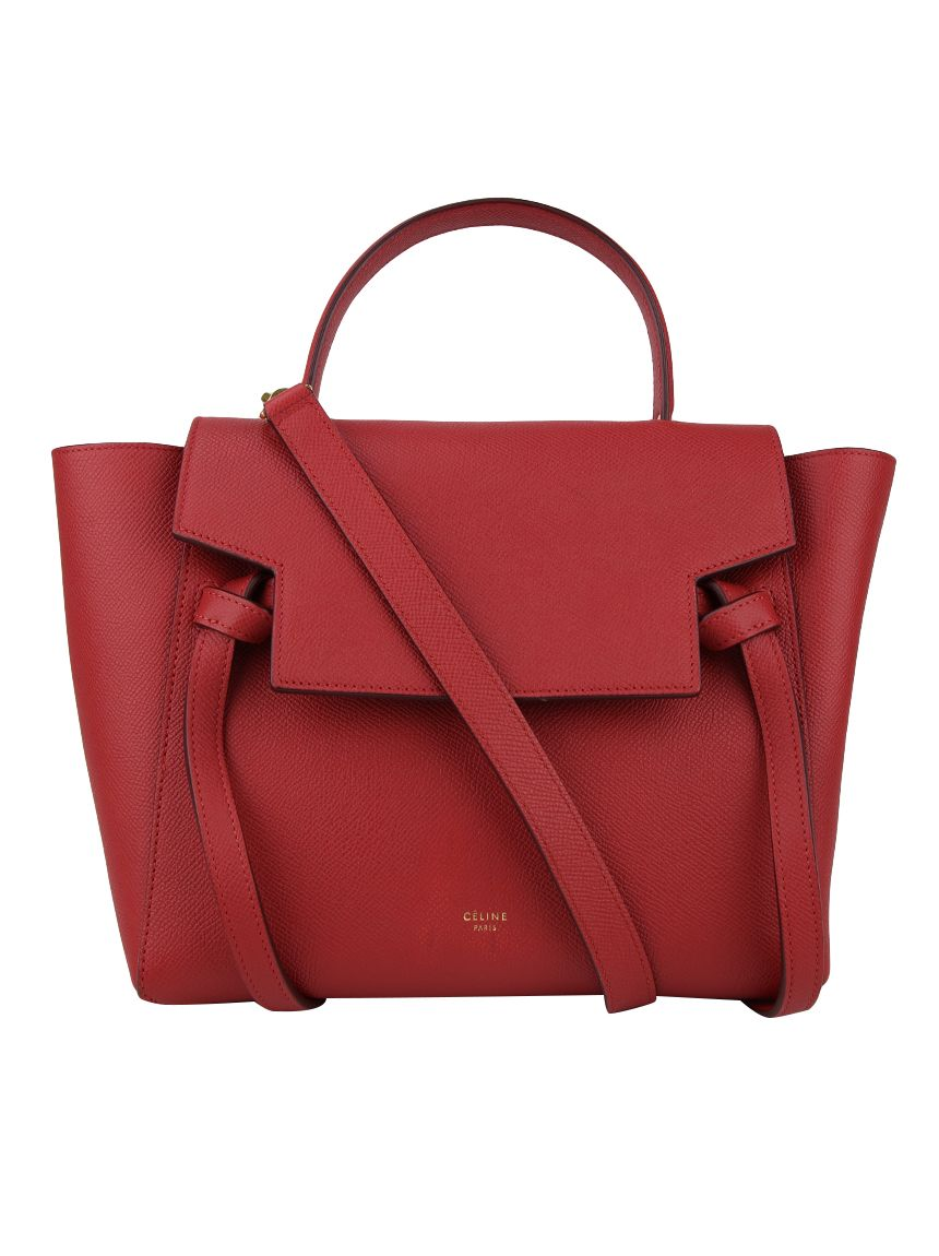 024e13026 Bolsa Céline Micro Belt Bag Vermelha Original - EYC4 | Etiqueta Única