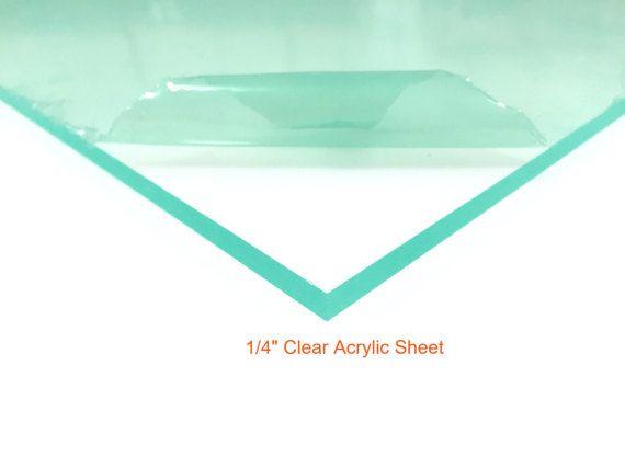 Clear Acrylic Plexiglass Sheet 1 4 Thick Plexiglass Sheets Clear Acrylic Sheet Clear Acrylic