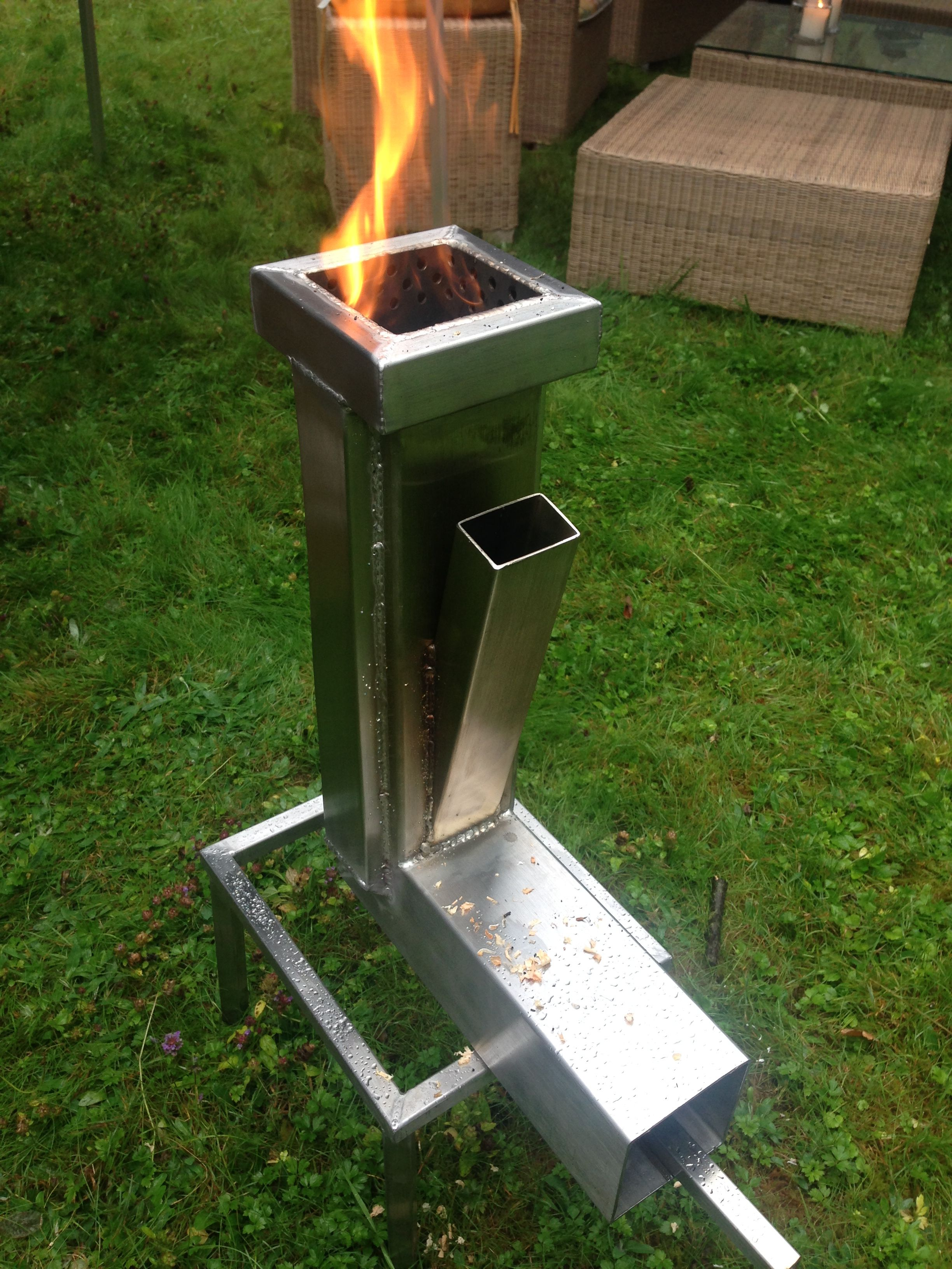 New Rocketstove Design Raketenofen Hobo Holzvergaser
