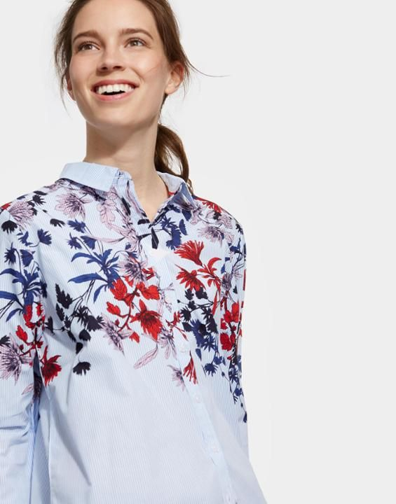 24b8b9485df KARINA FLORAL Loose Fit Shirt | CWC | Shirts, Floral tops, Fashion