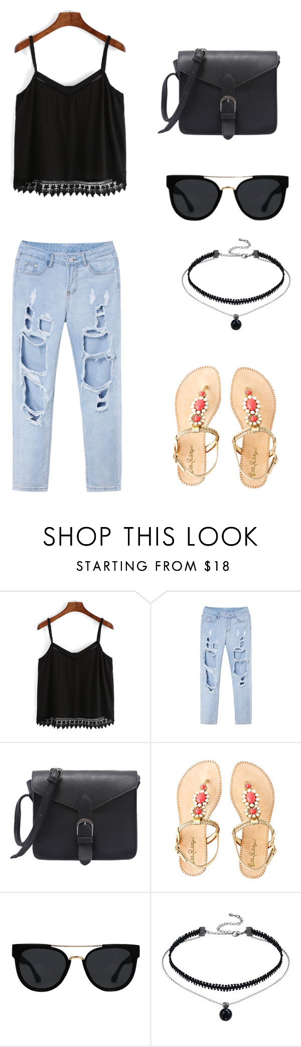 """""""Untitled #65"""" by bleona-ermonda on Polyvore featuring Lilly Pulitzer and Quay"""