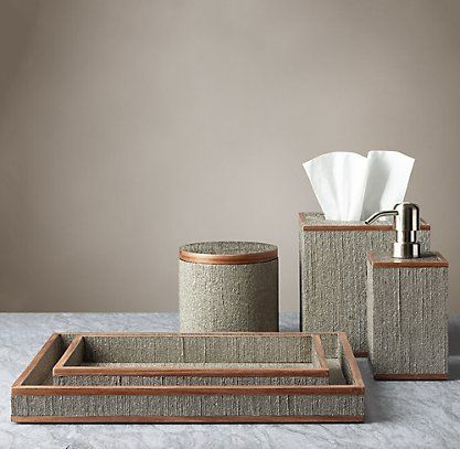 Mettalic Blue Bath Rug Set