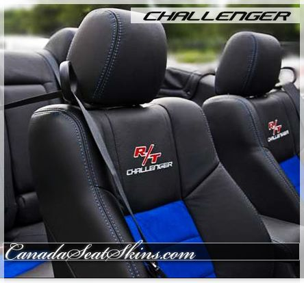 2009 2014 Dodge Challenger R T Black With Blue Inserts Leather Package With R T Logos On Lean Backs Can Dodge Challenger 2014 Dodge Challenger Challenger