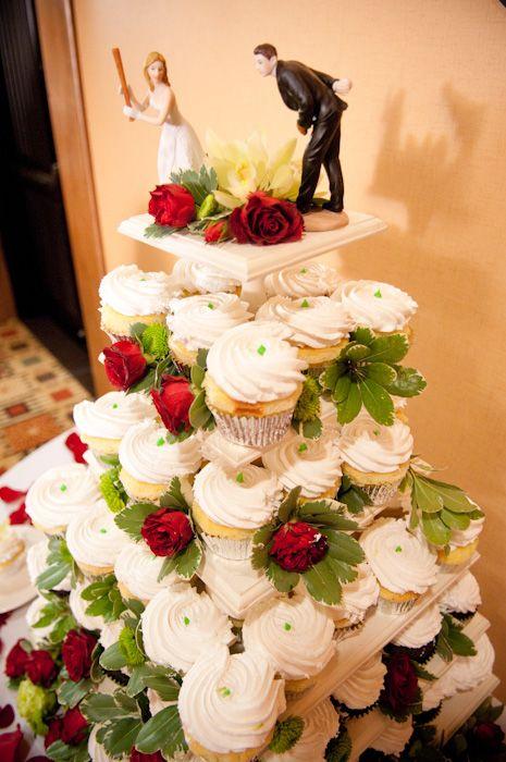 PHANTASTIC Phillies cupcake tower | Wedding Cakes | Pinterest ...