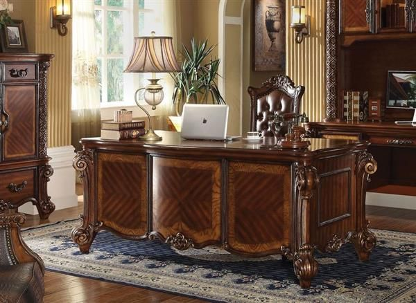 Vendome Cherry PU Wood Office Desk  Home Office Furniture