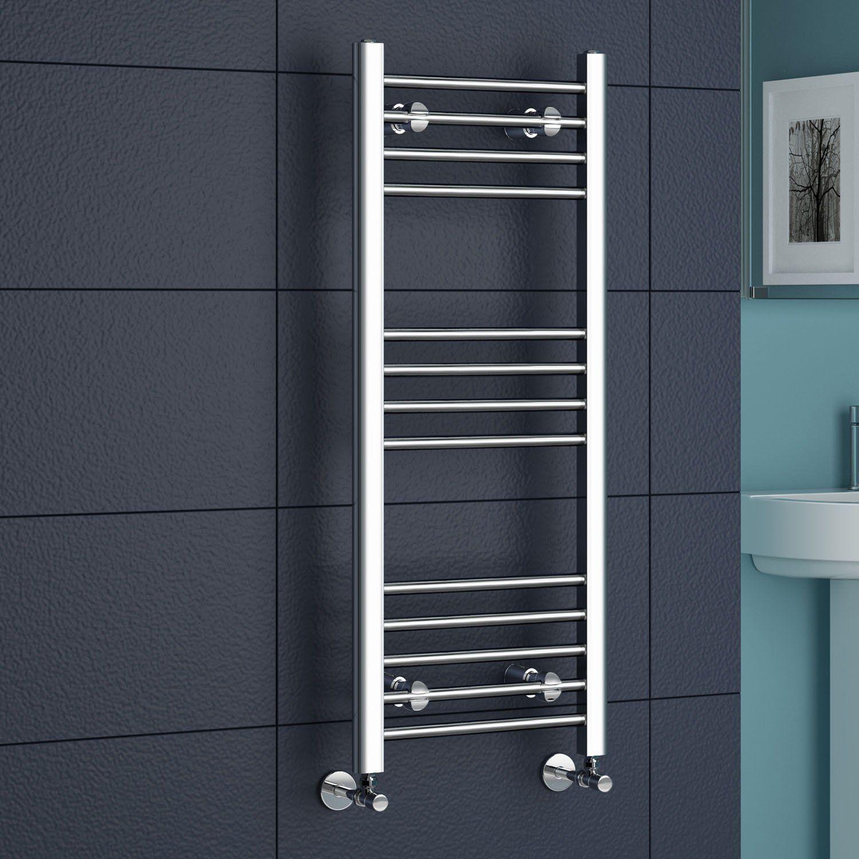 Natasha ladder rail straight modern electric towel radiator in chrome - Https Www Amazon Co Uk Ibathuk Straight Modern Radiatorstowel Radiatortowel Railbathroom Accessoriesnatasha