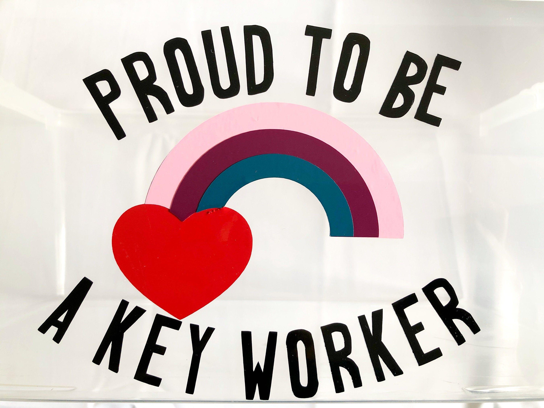 Proud To Be A Key Worker Vinyl Car Wall Window Sticker Gifts Shapes Walldecor Vinyl Embellishments Car Craft Shaped Decor Window Stickers Worker Vinyl [ 2250 x 3000 Pixel ]