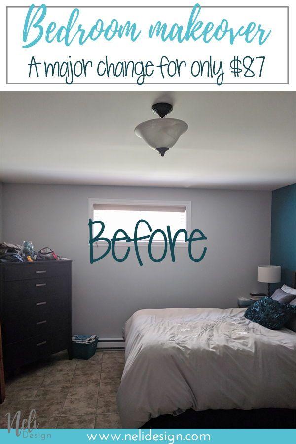 Master bedroom makeover reveal / $100 Room Challenge | NeliDesign