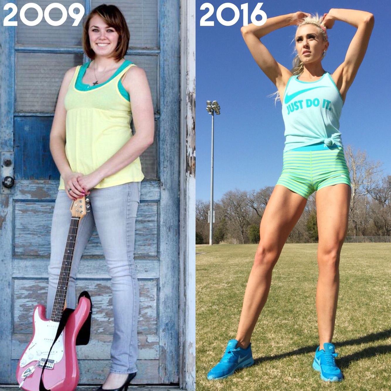 My transformation! Done with weightlifting and flexible ... Brittany Dawn Fitness