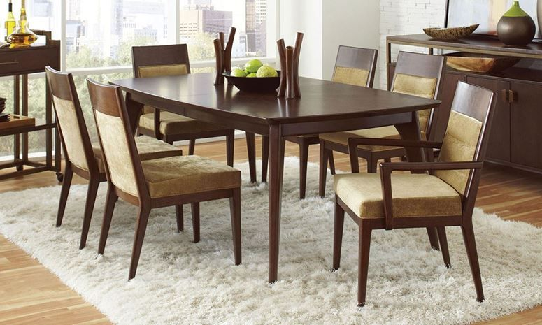 rectangular extension leaf dining table 4 side chairs and 2 arms rh pinterest at