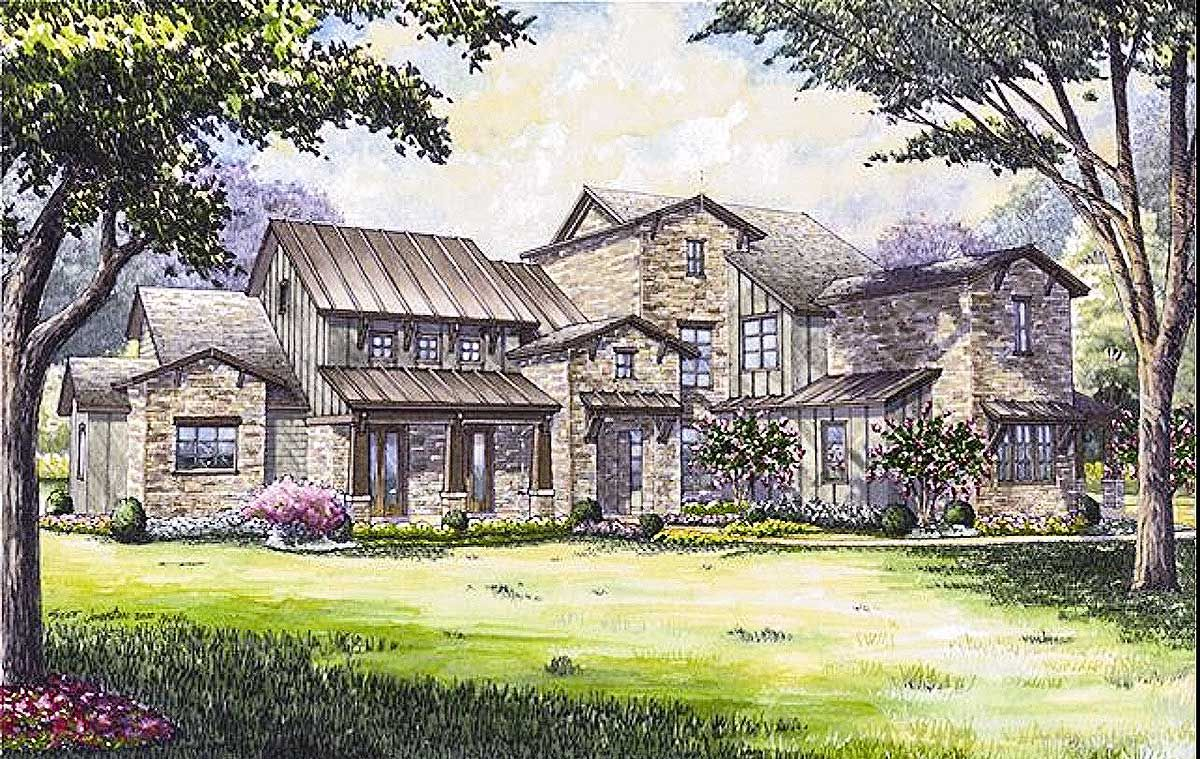 House Plan 67129GL Remarkable Hill Country House