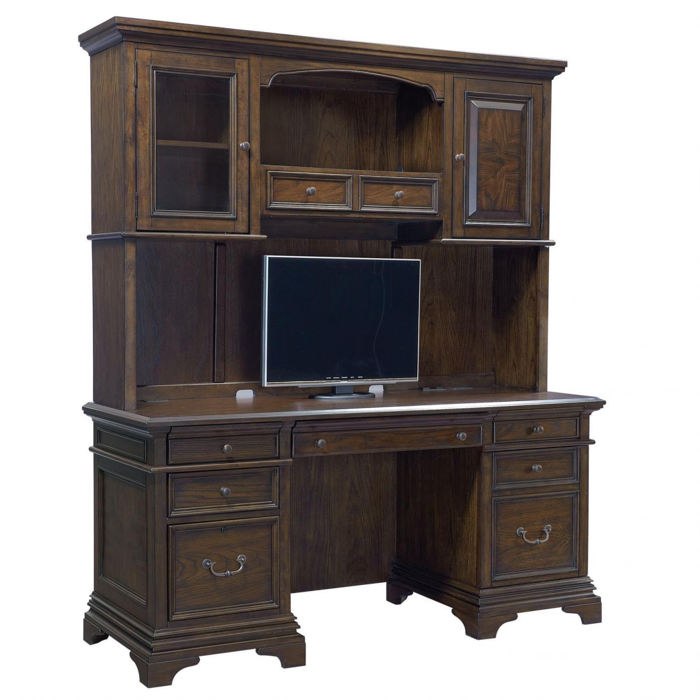 aspenhome essex 66 inch credenza desk with hutch furniture home rh pinterest com