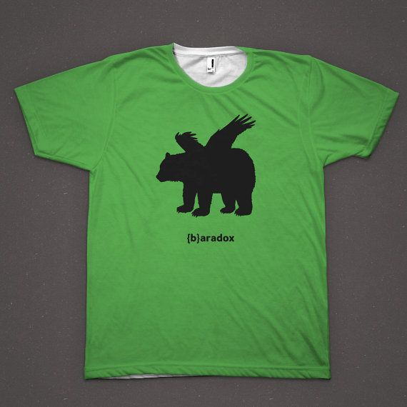 There's a paradox, and then there's a bearadox. Get our green {b}aradox shirt and prepare your bear puns - hibernation is over.